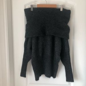 Acne Daze Mohair Sweater Off Shoulder Slouchy